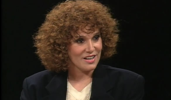 Elaine Garzarelli discussing her stock market methodology on Charlie Rose